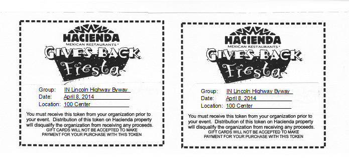 Hacienda coupon